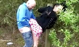 in the woods sucking and fucking
